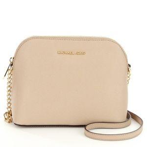Michael Kors Cindy Gold Chain Strap Crossbody Pink